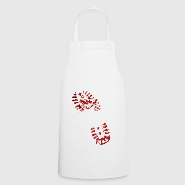 Crime scene with shoe sole imprint - Cooking Apron
