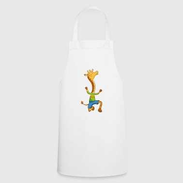 Giraffe funny motif as a gift idea - Cooking Apron