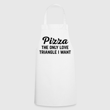 Pizza Love Triangle Funny Quote - Keukenschort