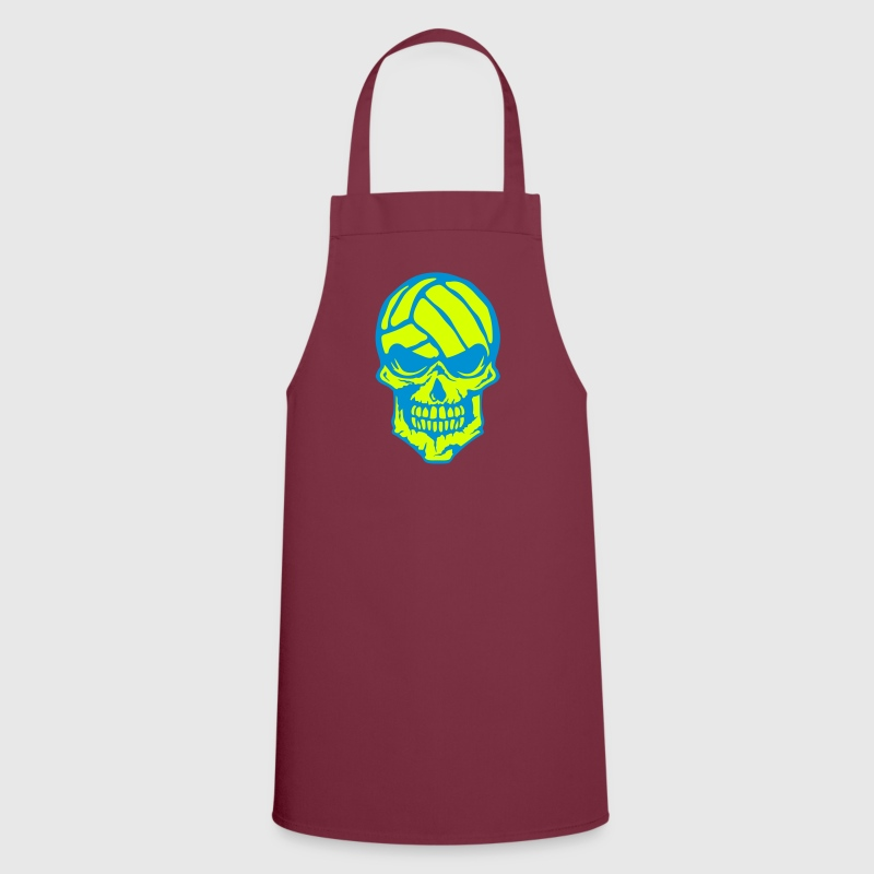 Volleyball skull water polo logo - Cooking Apron