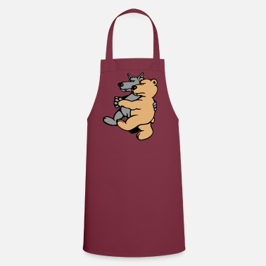Gay Wolf and Bear  Aprons - Cooking Apron