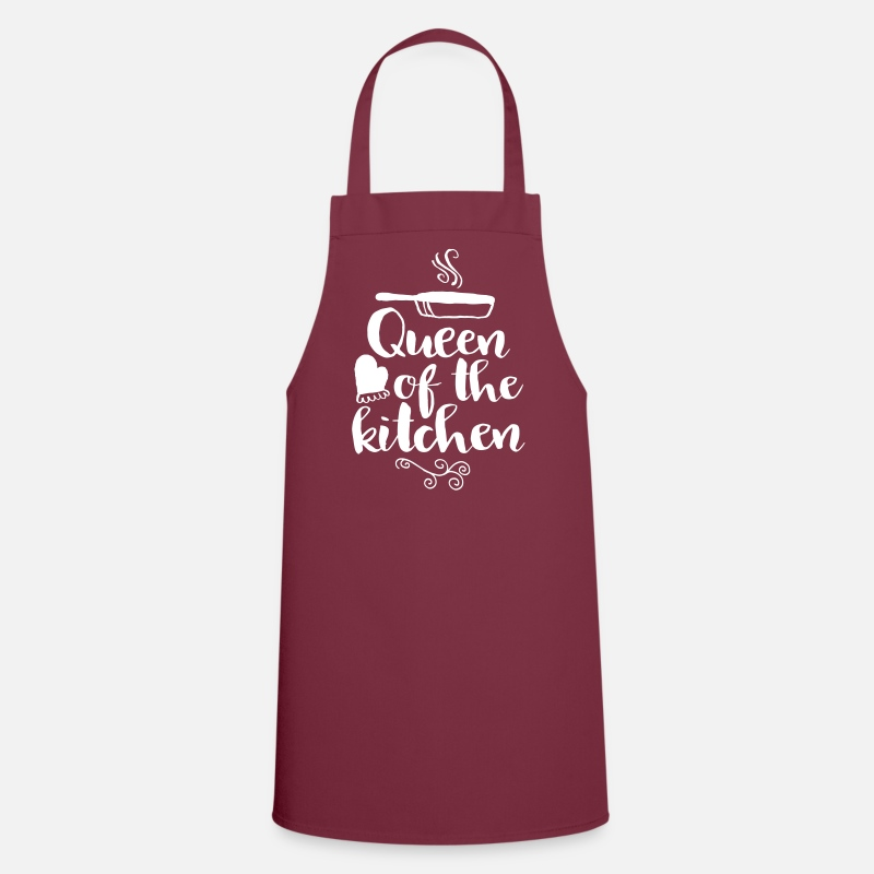 Gastronomy Aprons - queen of the kitchen - Apron bordeaux