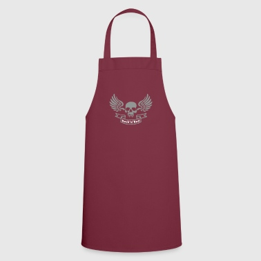 Rock And Roll rocknroll_skull_b - Cooking Apron