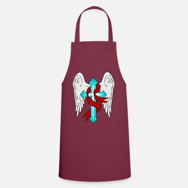 God A CROSS WITH LOOP AND WINGS CHURCH - Apron