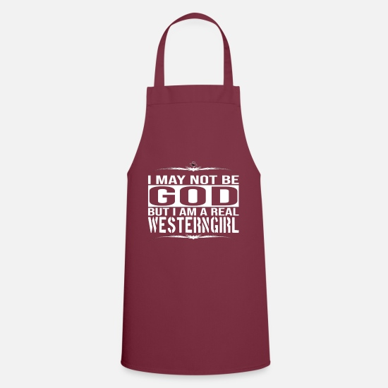 Gift Idea Aprons - Western horse horses girlfriend wife gift idea - Apron bordeaux