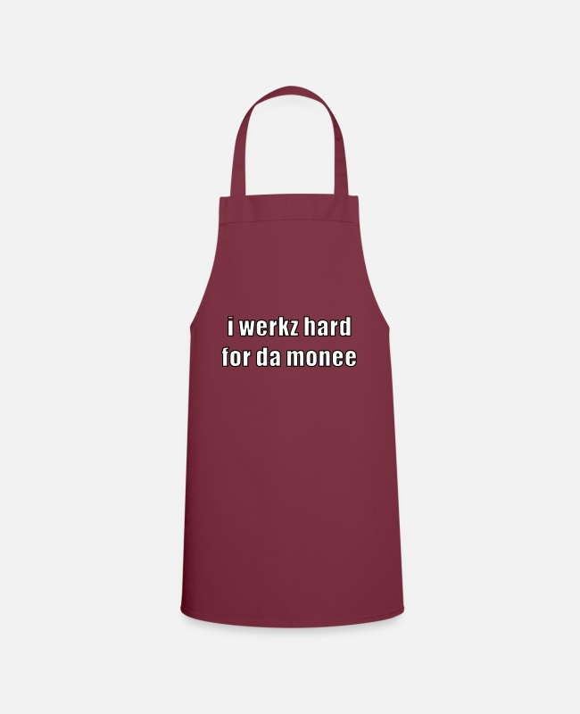 Money Aprons - i werkz hard - Apron bordeaux