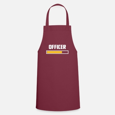 No Work Officer installing t-shirt - Apron