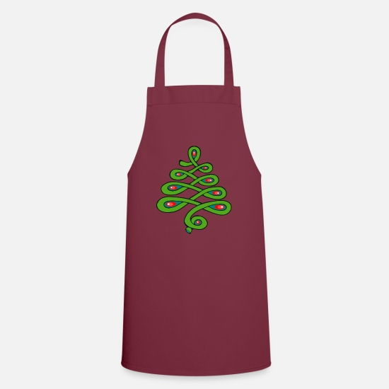 Gift Idea Aprons - Christmas tree - Apron bordeaux
