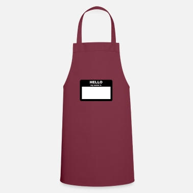 Hello My Name Is Name tag - HELLO my name is - Apron