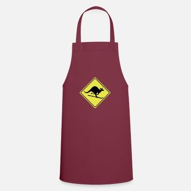Parody Humorous Comedy Entertaining roadsign kangaroo - Apron