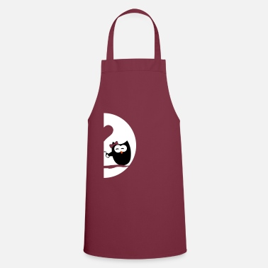 Couple Owls left - Valentine's Day - Apron