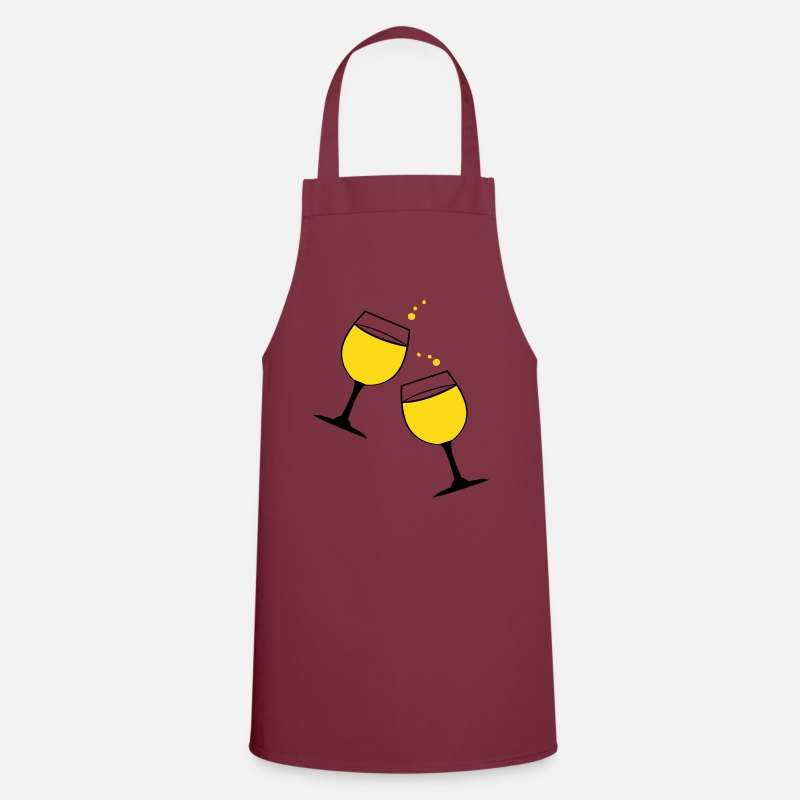 Champagne Aprons - Cheers glasses of red wine drinks - Apron bordeaux