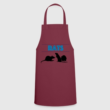 Rats With Rats' Silhouette - Cooking Apron