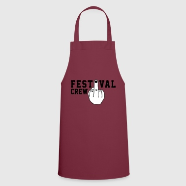 Festival Crew - Mittelfinger - Festival - Party - Cooking Apron