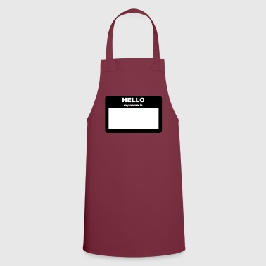 Name tag - HELLO my name is - Cooking Apron
