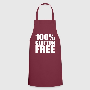 100% Glutton Free - Diet Humour - Cooking Apron