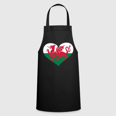 Wales Herz; Heart Wales - Cooking Apron
