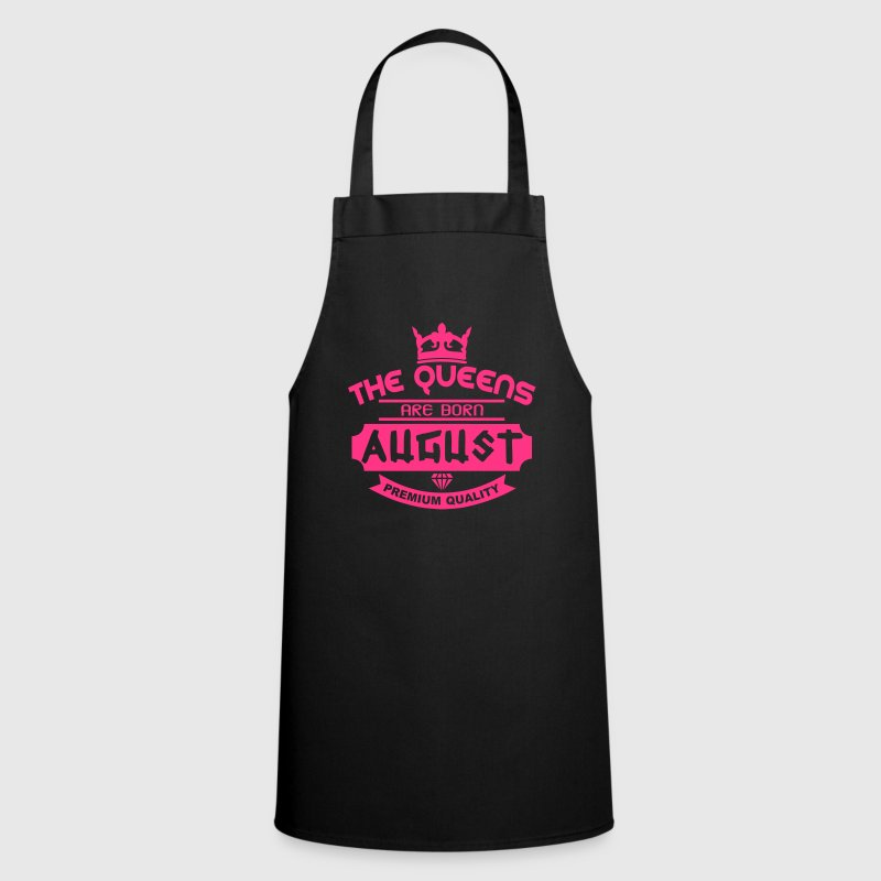 august born queens crown logo - Cooking Apron