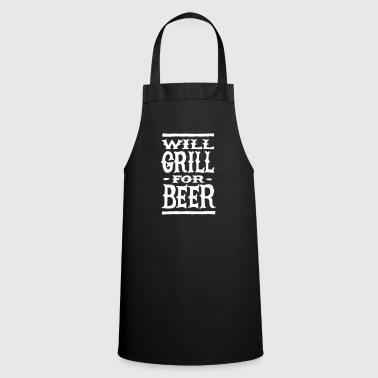 Will grill for beer - Forklæde