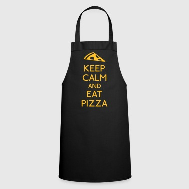Keep Calm Pizza mantener calma pizza - Delantal de cocina