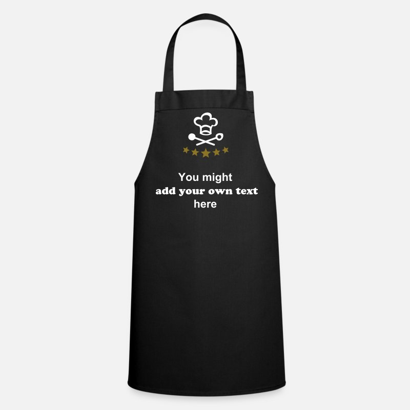 Chef Aprons - Pirate Chef's Hat.  chef, cooking - Apron black