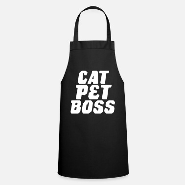 Domestic Cat Cat. Domestic animal. Boss. - Cooking Apron