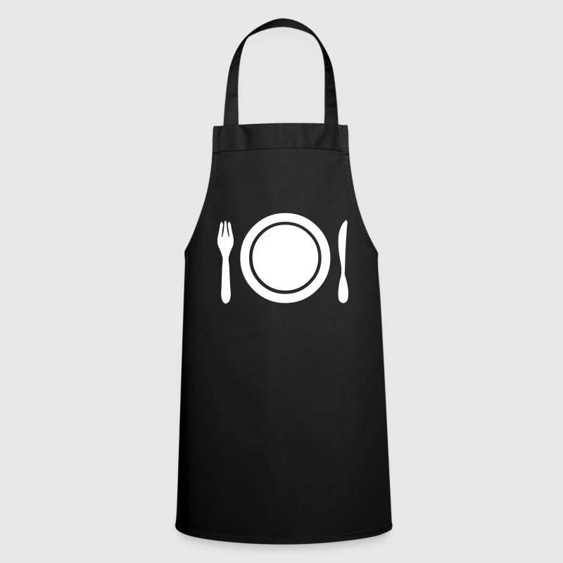 Knife, fork and plate - Cooking Apron