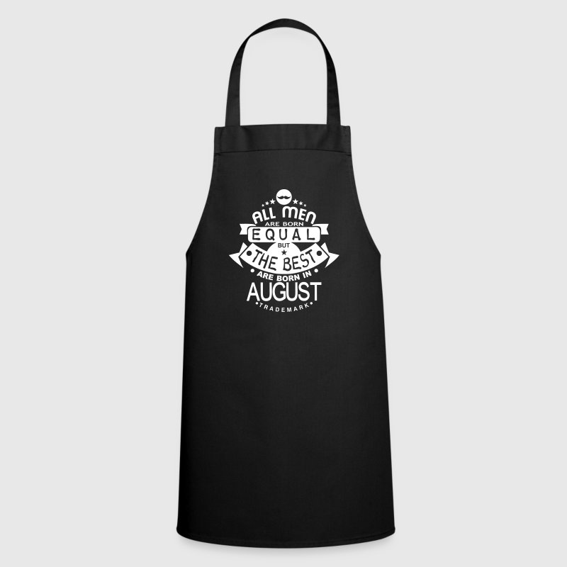 august men equal best born month logo - Cooking Apron