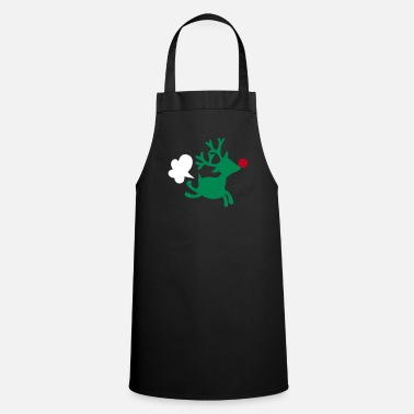 Smelly rudolph the red nosed reindeer with a fart - Cooking Apron