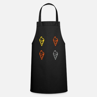 Ice Ice Cream Ice Cream Cones Ice Cream Balls - Cooking Apron