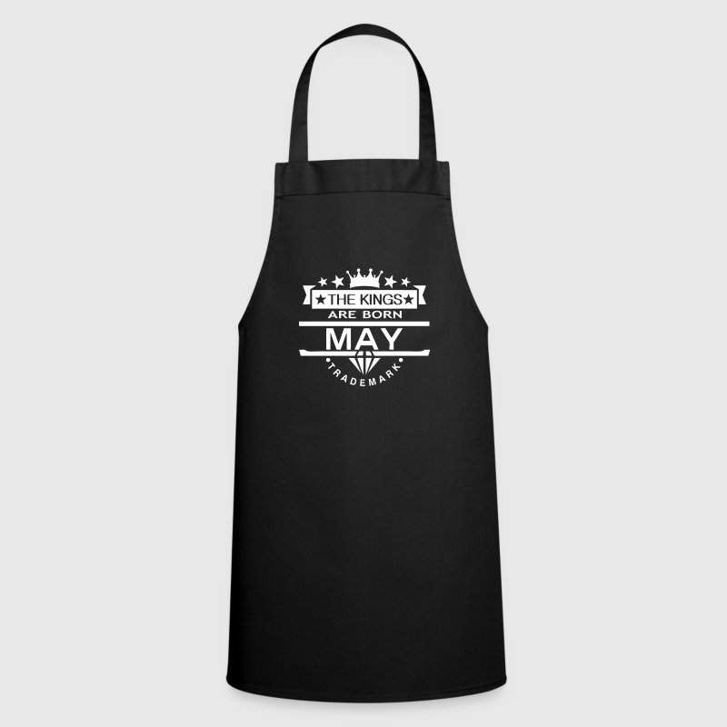 may kings born birth month crown logo - Cooking Apron