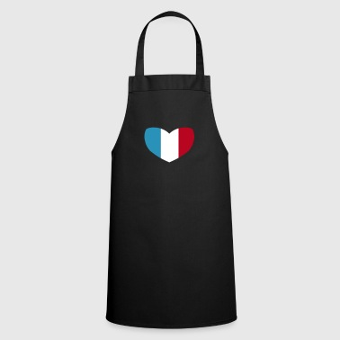 French French Flag Heart - Cooking Apron