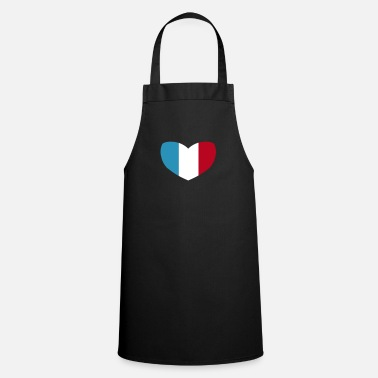 Flag French Flag Heart - Cooking Apron