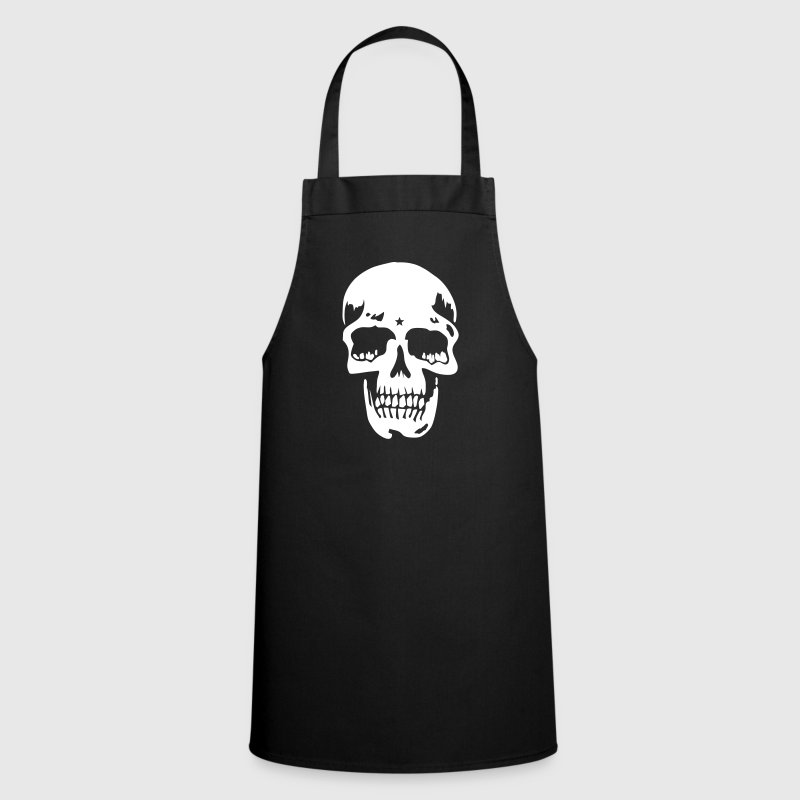 skull pirate death heavy metal - Cooking Apron