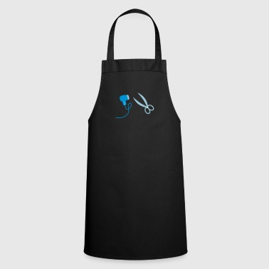 Hair dryer Hairdresser Hairdresser Hairdresser Hair dryer 2c - Cooking Apron