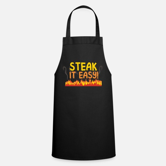 Steak Schürzen - Steak it easy Grill Shirt Motiv für die BBQ Party - Schürze Schwarz