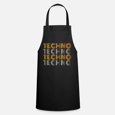 Techno Techno Techno Techno Techno minimal shirt - Cooking Apron