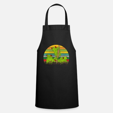 Frog Retro frogs frog - Apron