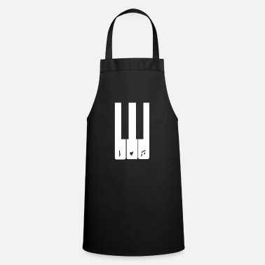 I LOVE MUSIC Piano piano player note Keyboard - Apron