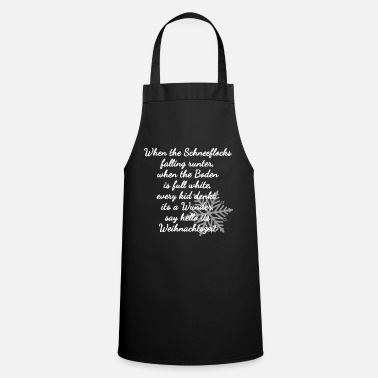 When the Snowflakes - Winter Poem Christmas - Apron