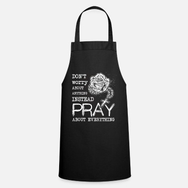 Cool Christian Rosary Christian Prayer Christianity - Cooking Apron