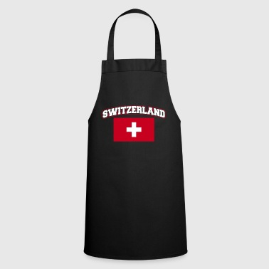 Switzerland mountains flag Alps country gift National - Cooking Apron