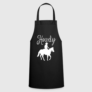 Horse Howdy Western Rider Greeting Western Ranch Horse - Cooking Apron