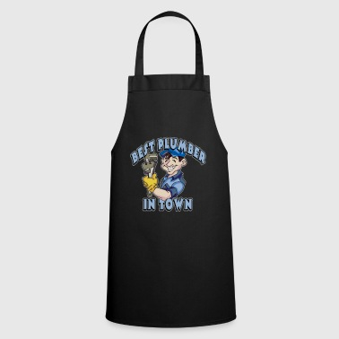 Nail Great Gift Idea For Workaholic Person Best Plumber in town - Cooking Apron