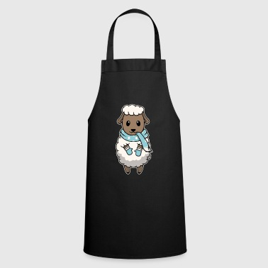 Cold Animal kid sheep Christmas winter gift - Cooking Apron