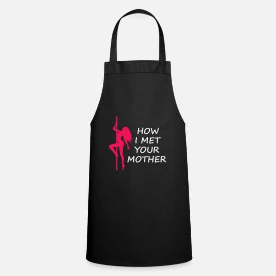 Power Aprons - This Is My Pole Dancing Tshirt Design How I met - Apron black