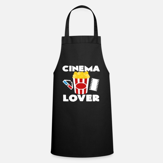 Idea Regalo Grembiuli - Amante del cinema | Regalo in tela di Popcorn Cinema Films - Grembiule nero