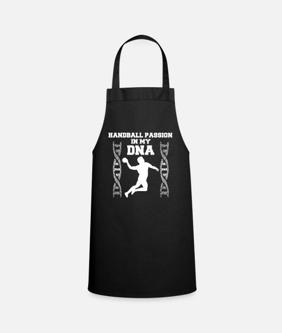 Training Aprons - Handball PASSION in my DNA gift shirt - Apron black