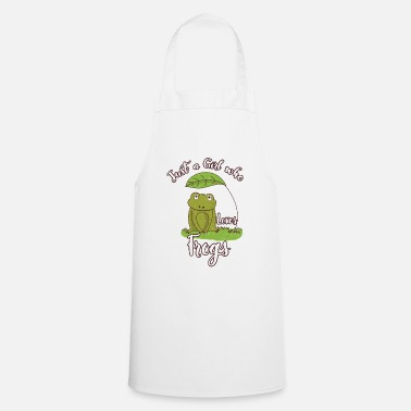 Just A Girl Who Loves Frogs Toad Animal Nature - Schort