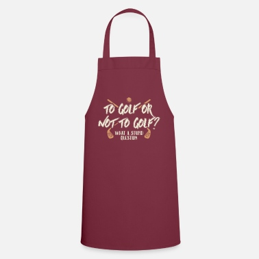 Golf Golfing yes no - Apron